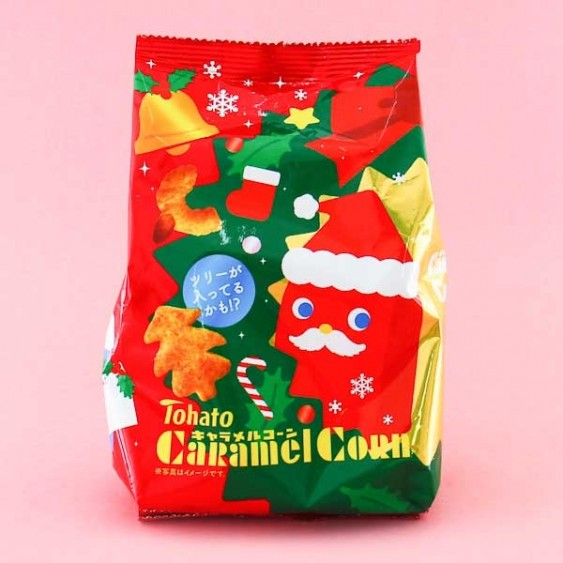 Tohato Caramel Corn Christmas Version