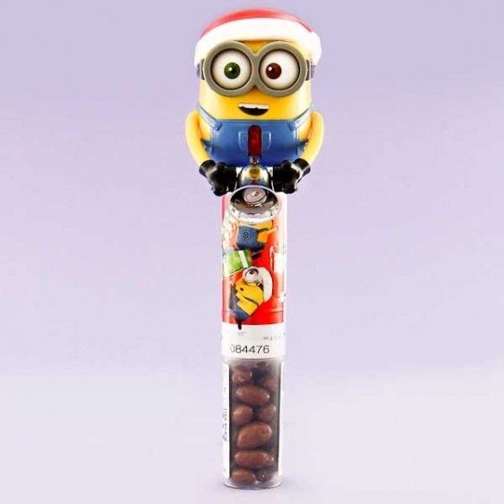 Heart Minions Christmas Ringing Bell Chocolates
