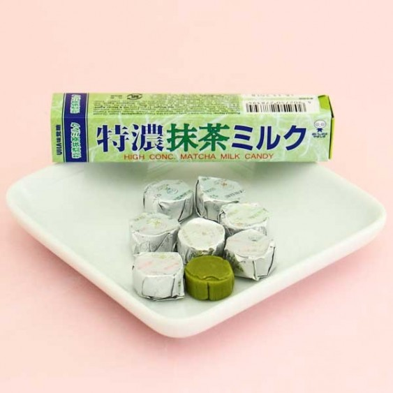 UHA Tokuno 8.2 Milk High Concentrated Candies - Matcha Green tea