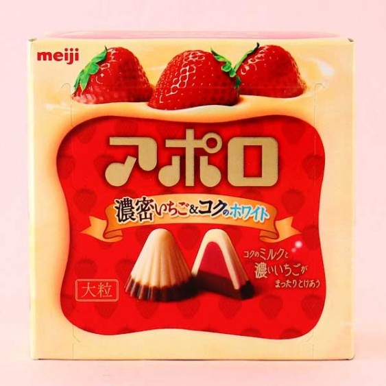 Meiji Big Rich Apollo Strawberry Chocolate