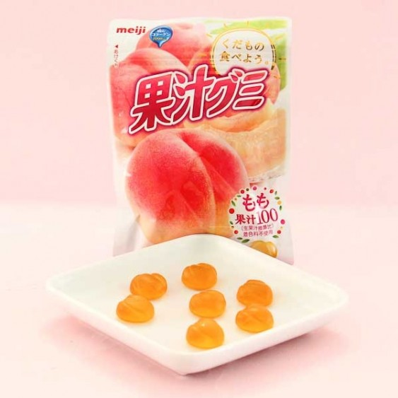 Meiji Kajyu Fruit Gummies - Peach