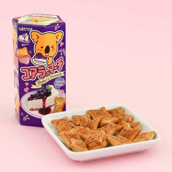 Lotte Koala's March Blueberry Cheesecake Cookies