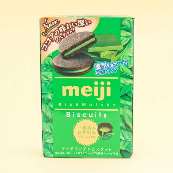 Meiji Rich Matcha Biscuits