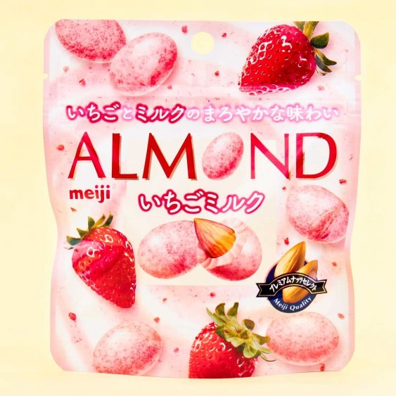 Meiji Almond Chocolate - Strawberry & Milk