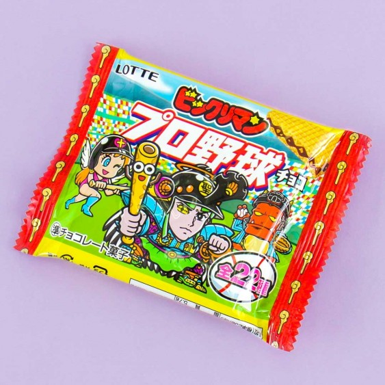 Lotte Bikkuriman Pro Baseball Chocolate Wafers