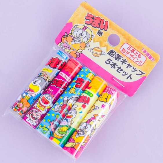 Umaibo Corn Puff Sticks Pencil Cap Set