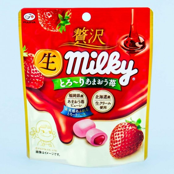 Fujiya Milky Amaou Strawberry Milk Candy