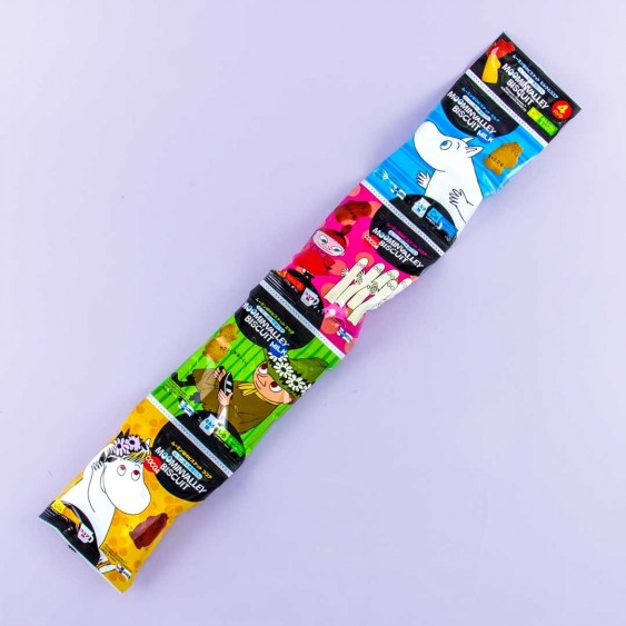 Moominvalley Biscuits - Milk & Cocoa - 4 pcs
