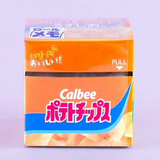 Calbee Potato Chips Pull-Out Roll Memo Paper