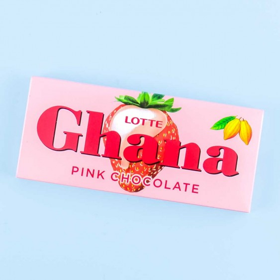 Lotte Ghana Pink Chocolate - Strawberry