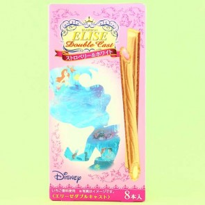 Elise Double Cast Strawberry & White Chocolate Wafer Sticks - The Little Mermaid