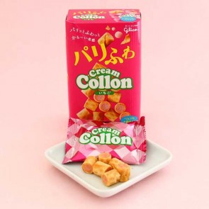 Glico Cream Collon Biscuit Roll Party Box - Strawberry