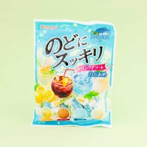 Kasugai Nodo Ni Sukkiri Seashell Throat Candies - Soda Drinks