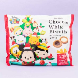 Disney Tsum Tsum Xmas Milk & White Chocolate Biscuits - 46 pcs