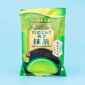 UHA Tokuno 8.2 Milk High Concentrated Matcha Candies - Green tea
