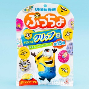 Puccho Minions Candy Bag & Paper Clip - Orange Soda