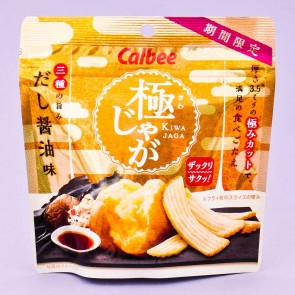 Calbee Kiwa Jaga Potato Chips - Dashi Soy Sauce