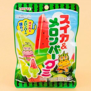 Lotte Watermelon And Melon Gummy Candies