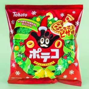 Tohato Christmas Poteko Potato Rings - Pizza