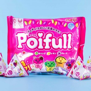 Meiji Poifull Mix Fruit Gummy Candy Multi-Pack - 9 pcs