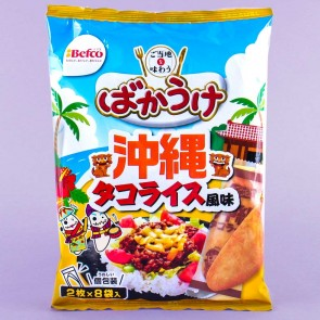 Befco Bakauke Rice Crackers - Okinawa Taco Rice