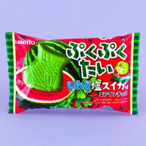 Meito Puku Puku Tai Fish Shaped Wafer - Salty Watermelon