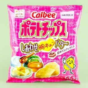 Calbee Beating Heart Potato Chips - Butter & Tiramisu