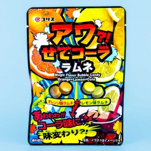 Coris Magic Flavor Bubble Candy - Orange & Lemon Cola