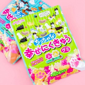 Happy Nikukyu Mini Cat Paw Gummies - Grape & Apple
