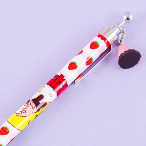 Apollo Strawberry Chocolate Mechanical Pencil With Charm