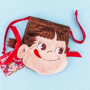 Milky Peko-Chan Ribbon Drawstring Bag