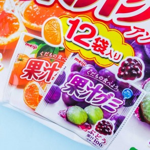 Meiji Kajyu Fruit Gummies Multi-Pack - Fruit Juice Assortment