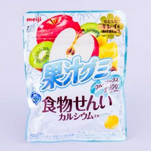 Meiji Kajyu Fiber Calcium Fruit Gummies - Mixed Fruits