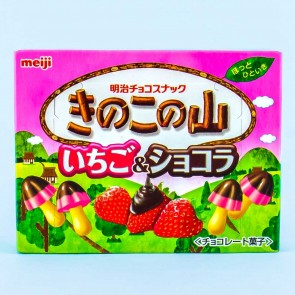 Meiji Kinoko No Yama Chocolate Biscuits - Strawberry & Chocolate