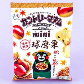 Fujiya Kumamon Country Ma'am Mini Cookies - Chestnut