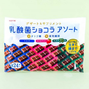 Lotte Lactic Acid Bacteria Chocolate - 3 Types Assorted Pack