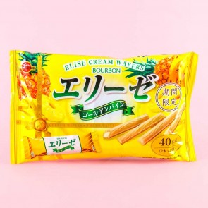 Bourbon Elise Golden Pineapple Cream Wafer Sticks