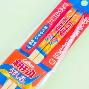 Calbee Lightly Salted Potato Chips Bamboo Chopsticks