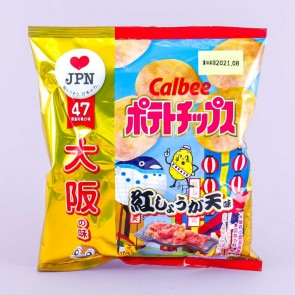 Calbee Potato Chips - Osaka Red Pickled Ginger