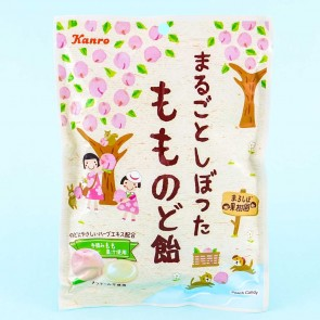 Kanro Whole Squeezed Peach Throat Candy