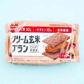 Asahi Cream Brown Rice Biscuit Sandwiches - Blanc Cacao