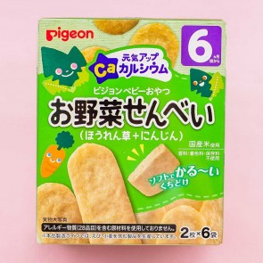 Pigeon Baby Energetic Up Ca Rice Crackers - Spinach & Carrot