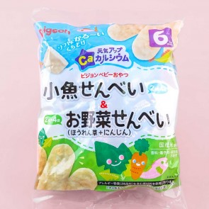 Pigeon Baby Energetic Up Ca Rice Crackers - Small Fish & Vegetables